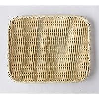 【かごや】特選 角盆ざる(竹ざる 水切りザル) 約24×30cm (A-7015)