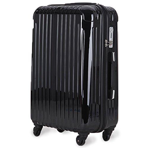 strike(ストライク)アウトレット 超軽量 2年保証 スーツケース TSAロック搭載 旅行バック トランクケース 旅行カバン (小型アウトレット, ブラック)