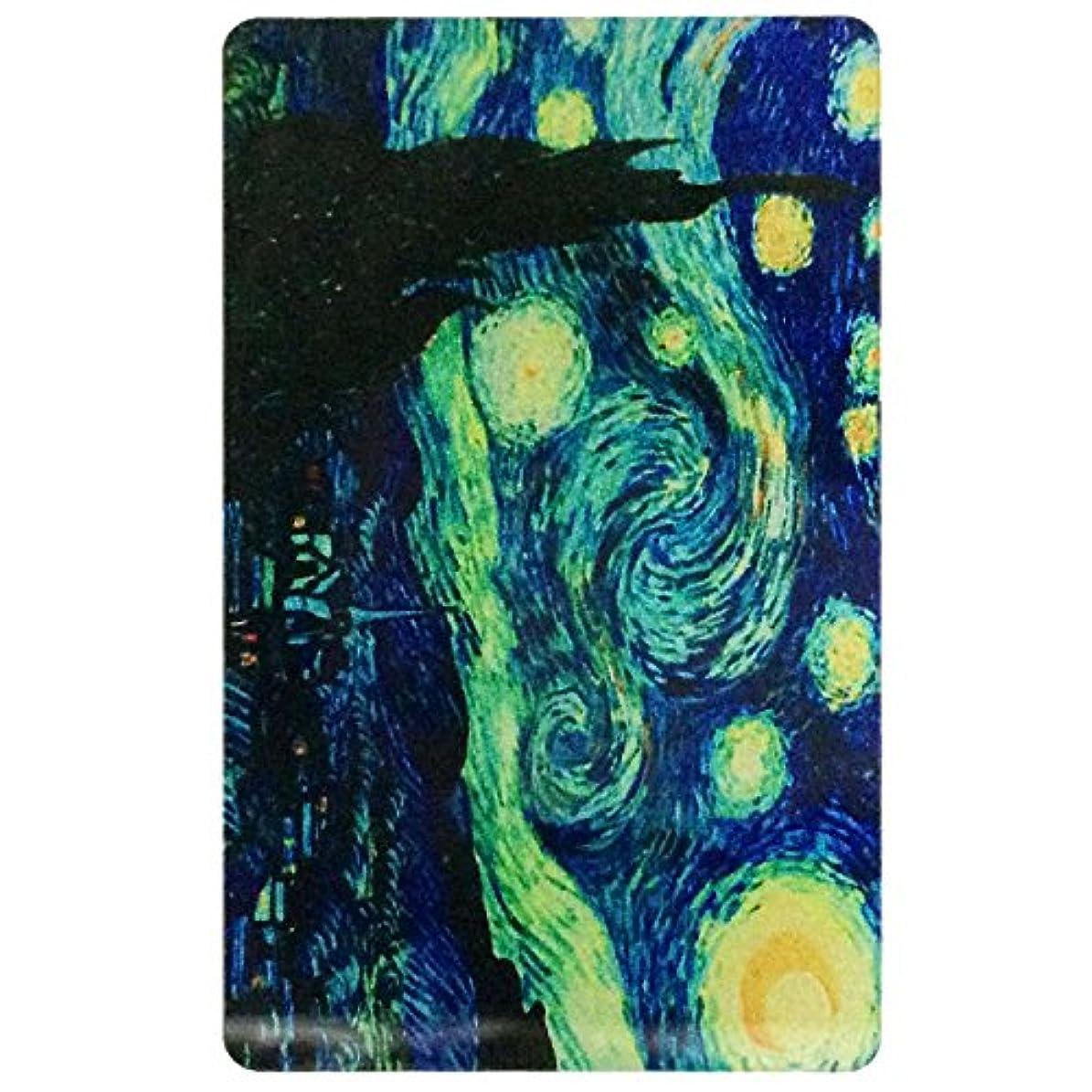 走る平手打ち麻酔薬カードサイズミラー MA02 カード ミラー 手鏡 コンパクト 手のひら アクリル (MA02)