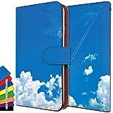 [KEIO ブランド 正規品] isai FL LGL24 ケース 手帳型 空 LGL24 手帳型ケース 雲 isai カバー FL カバー LGL24 星 イサイ ケース イサイエフエル ケース エフエル ケース LGL ケース 24 青空 ittn空青2t0016