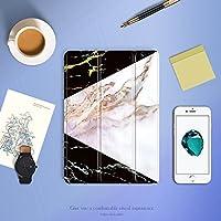 Batianda iPad Pro 10.5 ケース, TPU + PU レザー 三つ折 タイプ 保護スマートカバー 傷つけ防止 衝撃吸収 軽量 薄型 マグネットシェルカバー(大理石)