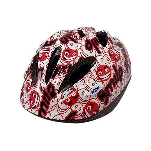 (KINGKA SPORTS) キンカスポーツ Smile 自転車 子供用 超軽量 190g ヘルメット ダイヤルアジャスター (レッド)