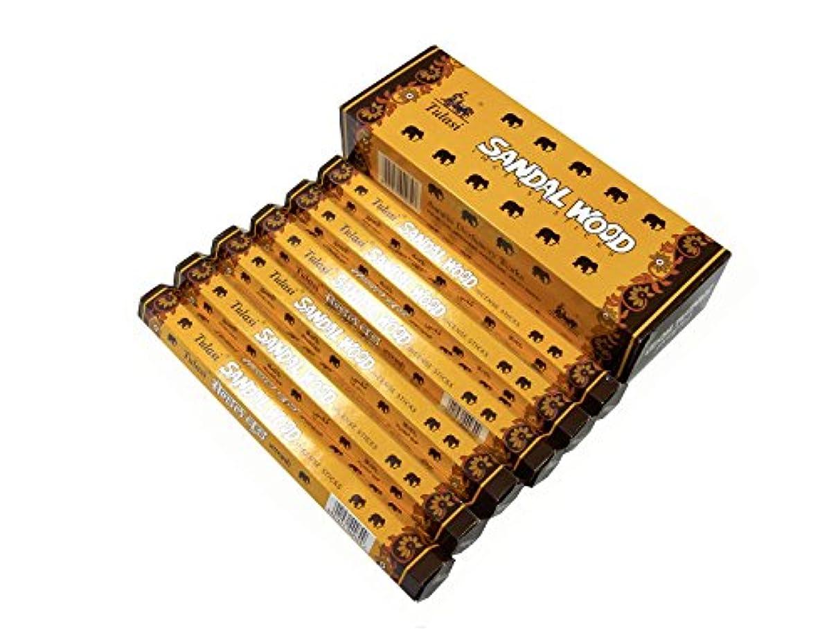 毛布ラビリンス高揚したTULASI(トゥラシ) サンダルウッド香 スティック SANDAL WOOD 6箱セット