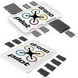 DiMeCard-SD & micro8 microSD + SD メモリーカードホルダー ドローン パイロット Combo Pack, 2個セット (クレジットカード・サイズのホルダー、記入可能なラベル)