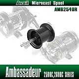 【Avail/アベイル】 【Abu/アブ】 Ambassadeur/アンバサダー用 NEW軽量浅溝スプール Avail Microcast Spool AMB2540R ブラック