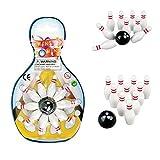 Heating Cooling Air Quality Best Deals - 6パックミニチュアBowling Game Set–デラックス–For Kids、再生、パーティー、楽しい、男の子、女の子、Bowlersなど。- - - - - - - Kidsco 12 Pack 743841486427