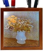 Rikki Knight 5-Inch Van Gogh Art Lilacs Design Wooden Tile Pen Holder (RK-PH1407) [並行輸入品]