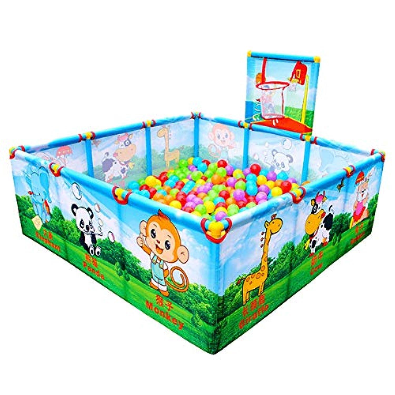 ベビーサークル, ポータブル漫画の赤ちゃん再生シューティングとボール、幼児のためのプラスチック製のプレイペン、子供の安全ゲームフェンス - 40センチメートルの高さ (サイズ さいず : With 100 Balls)
