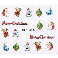 冬クリスマスシリーズマニキュア透かしステッカーファッション印刷ネイルペーパーネイルアート装飾DIYネイルツール