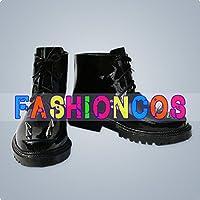 ★サイズ選択可★女性23CM UA1128 VOCALOID 秘密警察 鏡音レン コスプレ靴 ブーツ