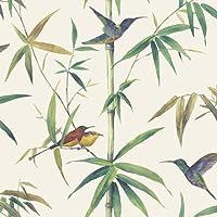 g56412–グローバルFusionサイズマルチカラー木鳥Galerie壁紙