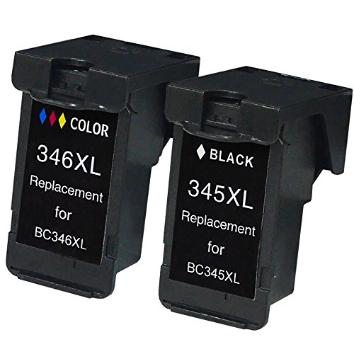 【ブラック+カラー】 キャノン 用 BC-345XL / B...