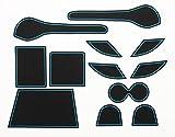 KINMEI(キンメイ) リーフ LEAF 日産 青 専用設計 インテリア ドアポケット マット ドリンクホルダー 滑り止め ノンスリップ 収納スペース保護 NISSANeafb