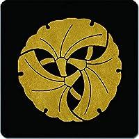 家紋 マウスパッド 三つ組み銀杏紋 15cm x 15cm KM15-1479