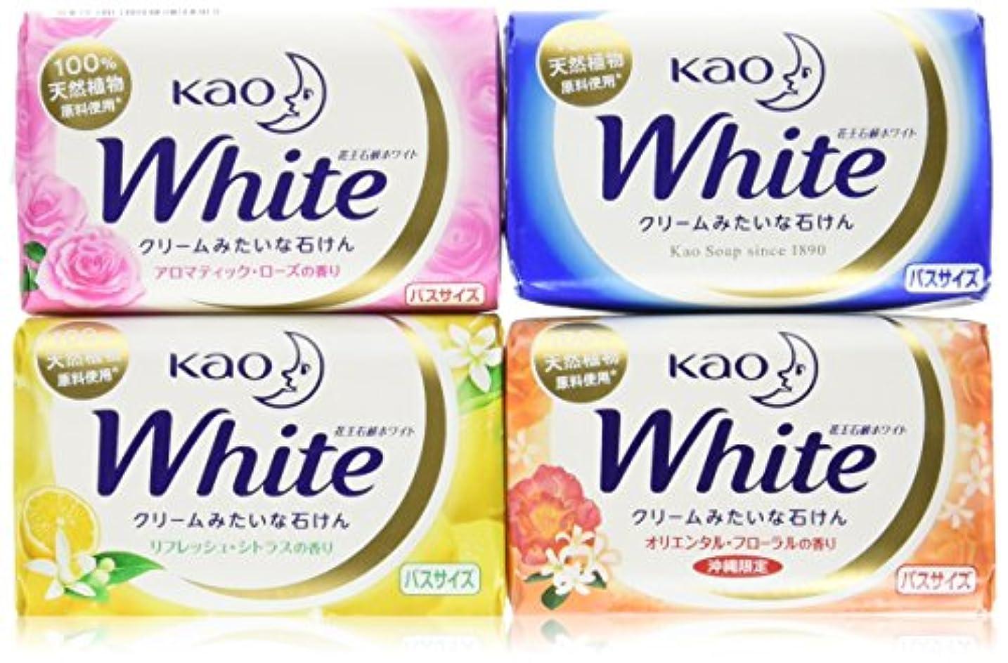 韓国語どんよりしたジャンプする花王石鹸ホワイト バスサイズ固形せっけん 130g×12個セット