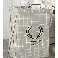 DCAH ストレージバスケットコットンとリネンの服ストレージバスケットハンパーファブリック折りたたみポータブル服のおもちゃのバケツ Laundry basket