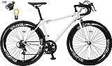 【カーブランド ルノー フロントライト・カギSET】NEXTYLE(ネクスタイル) RNX-7007(ホワイト) SHIMANO(シマノ) ロードバイク ロードレーサー 男女兼用(初心者対応 身長160cm以上 サイズ440mm) 7段変速
