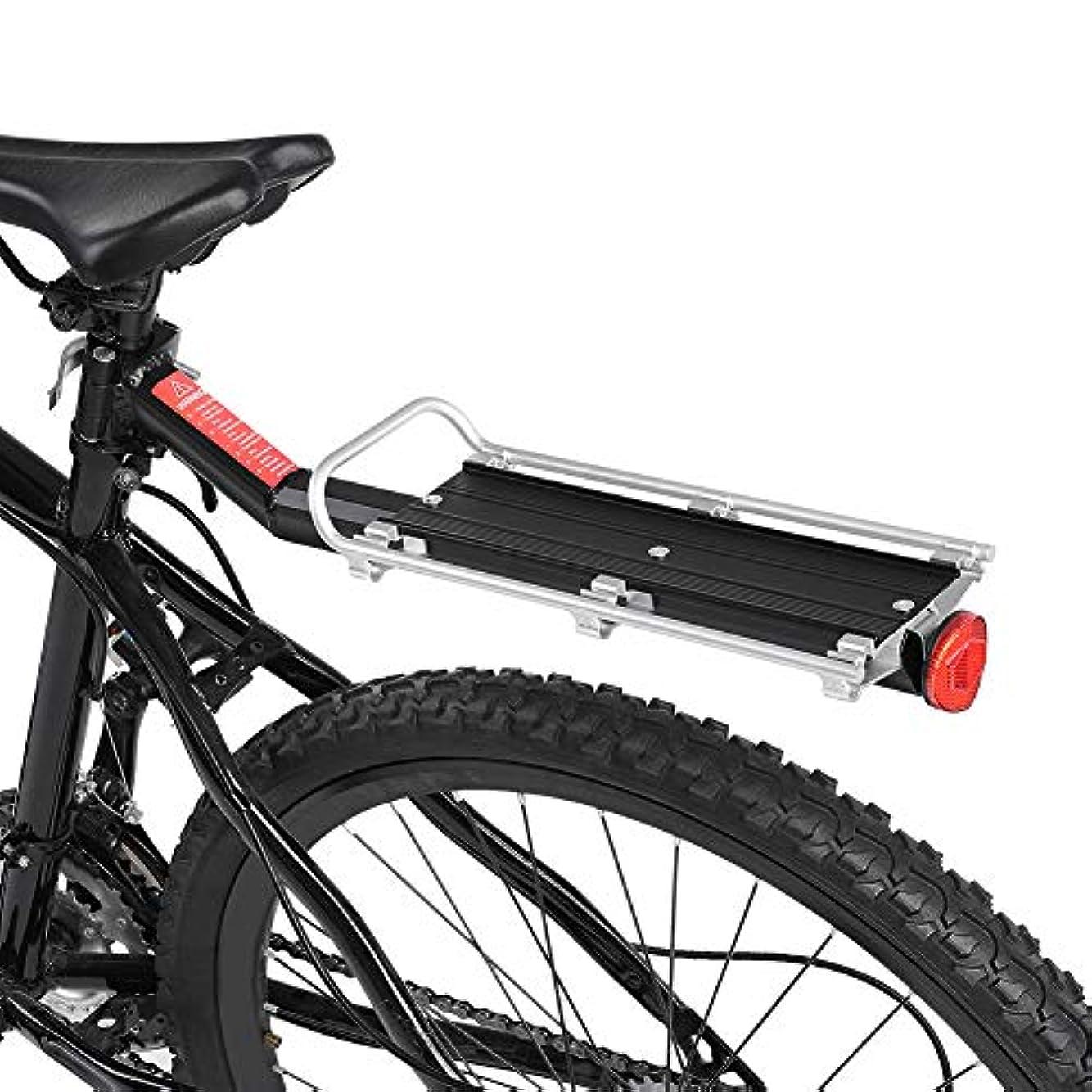 作成者凍結損失バイクラック マウンテンバイク&自転車カーゴラック クイックリリース 後部 カーゴシェルフ リアラック テールストック 軽量 取付け簡単 最大耐荷 60kg 2色 ブラック/シルバー