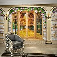 Wuyyii カスタム3D壁画風景ゴールドアベニューフラワー壁紙壁画リビングルームの寝室ホテルロビーの装飾B