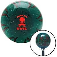 American Shifter 300939 Shift Knob (Red Fear No Evil Green Flame Metal Flake with M16 x 1.5 Insert) [並行輸入品]
