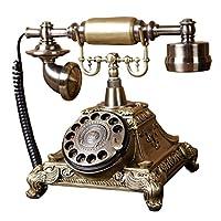 GAOLILI ファッション創造回転固定電話アンティークヨーロッパガーデンレトロ配線電話ホームオフィスの固定電話