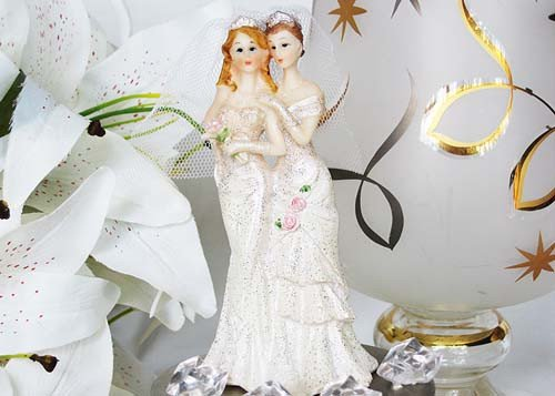 Lesbian Bridal Cake Topper 5 High by Naturalstar