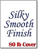 "Silky Smoothホワイトインクジェットレーザープリンタのカードストック(81/ 2"" x 11"")–Heavyweight 80lbカバー 50 Sheets ホワイト"