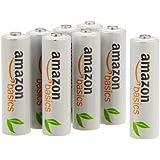 Amazonベーシック 充電式ニッケル水素電池 単3形8個パック (最小容量1900mAh、約1000回使用可能)