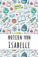 Notizen von Isabelle: Liniertes Notizbuch fuer deinen personalisierten Vornamen