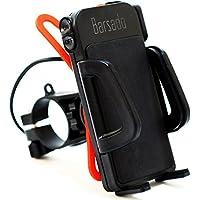 【Barsado】 バイク用 スマホホルダー USB 電源 ON/OFFスイッチ 付属 2.4A(5V / 2.4A) 急速充電防水仕様 スマートフォン ホルダー バー マウント 多機種対応!! ラバーグリップ2枚付属 Ba2156