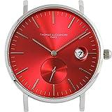 [Thomas Alexandre]トーマ・アレクサンドル 腕時計 フランス 替えベルト対応 ミニマル メンズ/レディース時計 (レッド)