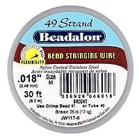 "Stringing Wire 49-Strand .018"" (.46mm) Diameter 30'/Pkg-Bright (並行輸入品)"