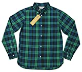 (ファイブブラザー)FIVE BROTHER タータンチェック マチ付 長袖 ボタンダウンシャツ 1516036 L BKACK WATCH(ブラックウォッチ)