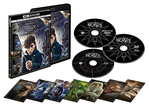 【Amazon.co.jp限定】ファンタスティック・ビーストと魔法使いの旅 <4K ULTRA HD&3D&2D ブルーレイセット>(3枚組/魔法動物カード全7種セット/デジタルコピー付)(オリジナル杖ペン&メモ帳付) [Blu-ray]
