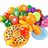 24個キッチンプレイセットディナーはおいしいトリート楽しい子供のための食品セットリビングおもちゃを再生カッティング