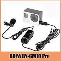 GoPro HDヒーロー4 3+ 3カメラ用BOYA BY-GM10プロオーディオラベリアマイク