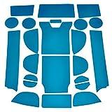 【E-Drive】 レクサス 新型 RX 450h 200t 専用 内装 パーツ ドア ポケット ドリンクホルダー ラバー マット セット カップホルダー ストレージボックス コンソールボックス インテリアパネル ドレスアップ アクセサリー カスタムパーツ カスタマイズ LEXUS rx 社外品(ブルー)