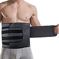 男性用シェイプアップベルト 二重圧力 お腹引き締め 減量用 発汗ダイエットベルト運動用 腰サポーター 腰痛 コルセット腰痛緩和 腰椎固定 腰 保護  スポーツ ウエストトリマーベルト