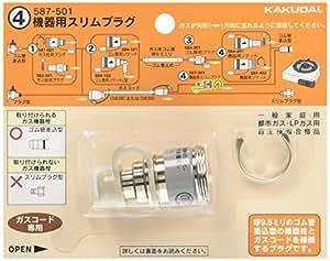 カクダイ 機器用スリムプラグ 587-501
