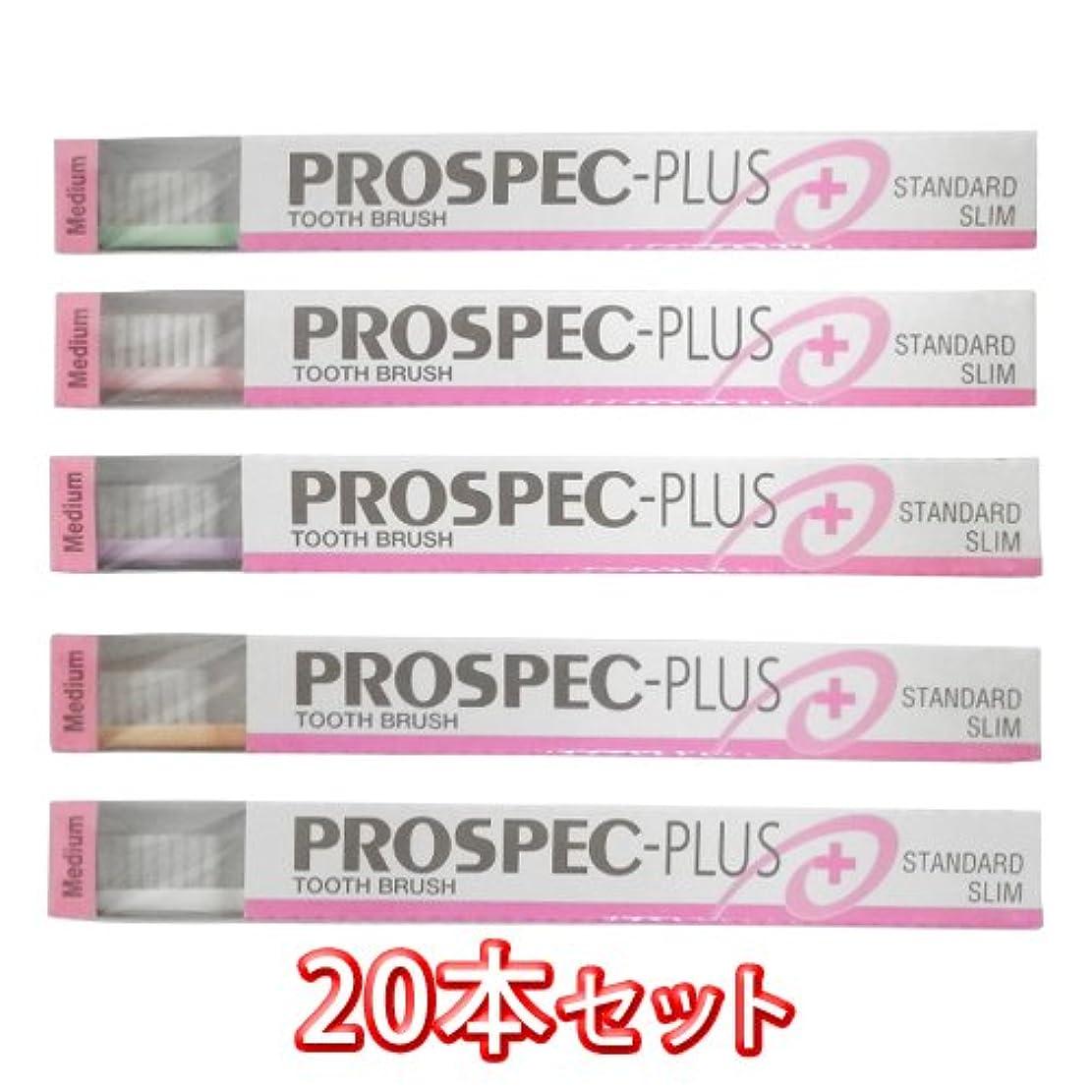 持続的再集計寛大なプロスペック 歯ブラシ プラス スタンダード スリム 20本入 (M(ふつう))