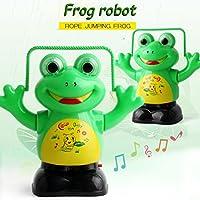 coerniキッズおもちゃ、電子ロボットSkipping Frog with音楽おもちゃ