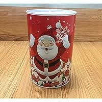 HuaQingPiJu-JP クリスマスマネー銀行円柱の缶詰めはピギー銀行(赤いサンタクロース)できます