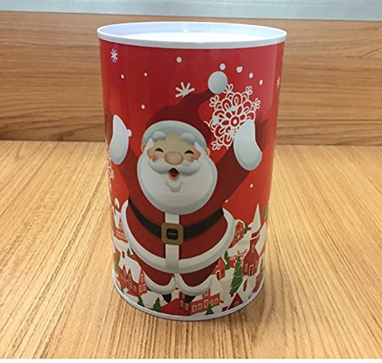 マネー バンク クリスマスマネー銀行円柱の缶詰めはピギー銀行(赤いサンタクロース)できます