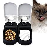自動給餌器 フィーダー 2食分 (TP) フード 自動給餌器 自動給餌機 えさ入れ 犬 猫 オート (27*7*24CM)