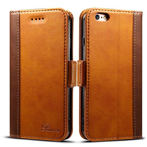 iphone6s ケース 手帳型 iphone6ケース 手帳 Rssviss 高級PUレザー 財布型 アイフォン6sケース カバー カード収納 マグネット スタンド機能 W3 ブラウン(iPhone6&6s対応)4.7inch