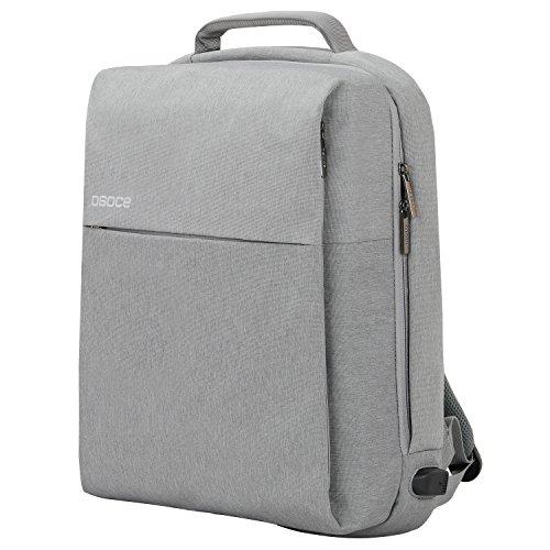ビジネスリュック リュックサック 大容量 USBポート付き 通勤通学ビジネスバッグ 14インチまでPC対応 A4サイズ対応 グレー
