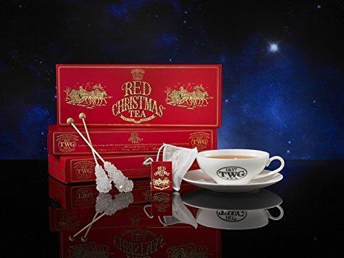 シンガポールの高級紅茶TWGシリーズ(RED CHRISTMAS TEA / 赤いクリスマスティー- 15茶パック)並行輸入品