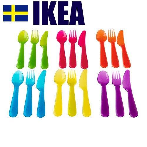 RoomClip商品情報 - IKEA (イケア) カラフル カトラリー 6色セット KALAS 101-929-61 101.929.61 アソートカラー