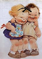 Little Girls Laughing: Greeting Card 6 Cards Individually Bagged With Envelopes and Header (Birthday)