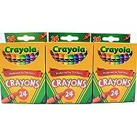 3 - Pack Crayola 24 Countボックスofクレヨン非毒性色カラーリングSchool Supplies